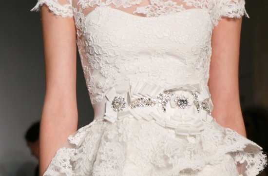 Bridal Runway Inspiration Fall 2013 Reem Acra wedding dresses lace peplum