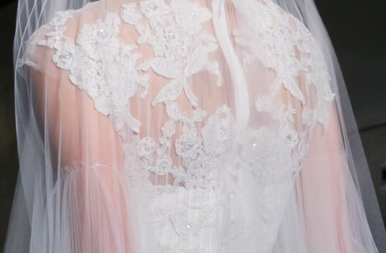 lace illusion neckline wedding dress Reem Acra Fall 2013 3