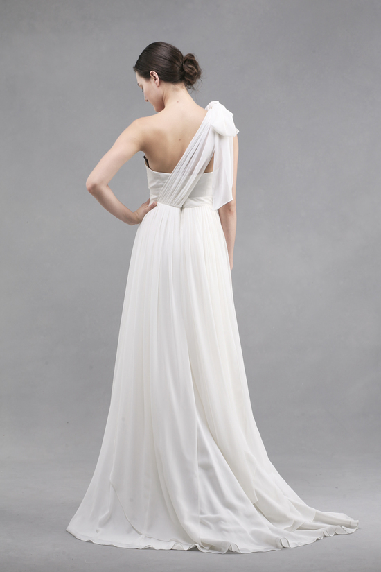 jenny yoo wedding dress colllection spring summer 2013 bridal gowns monarch tied one shoulder