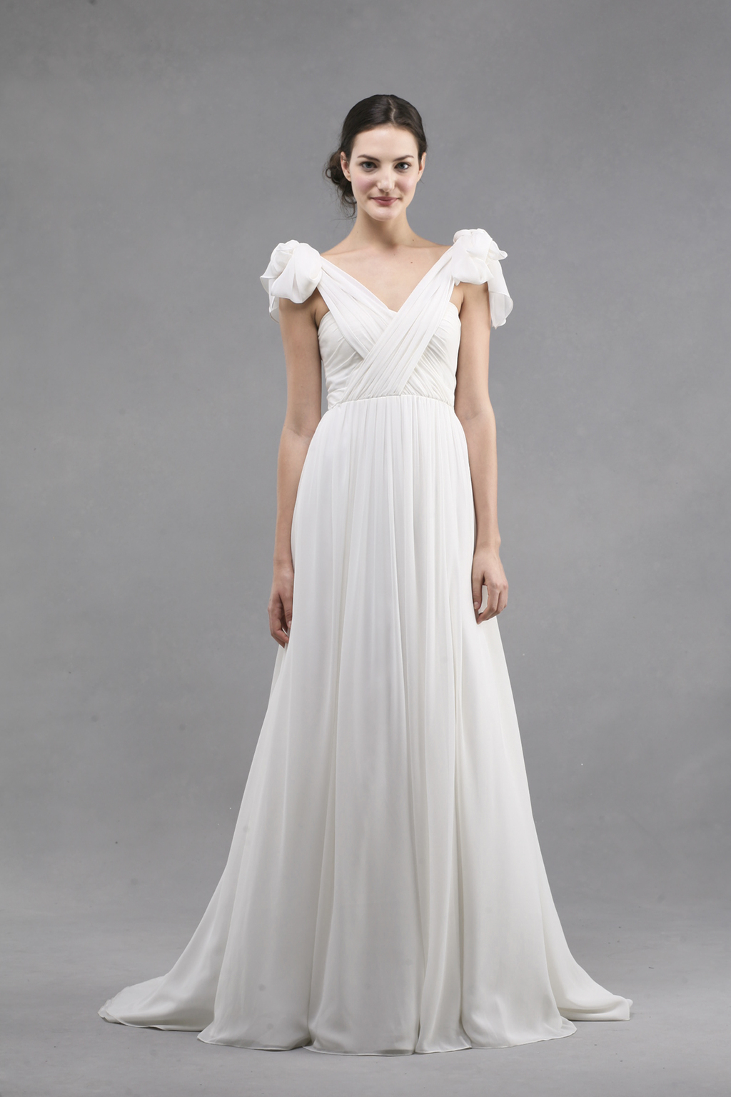 jenny yoo wedding dress colllection spring summer 2013 bridal gowns monarch criss cross v neck tIed