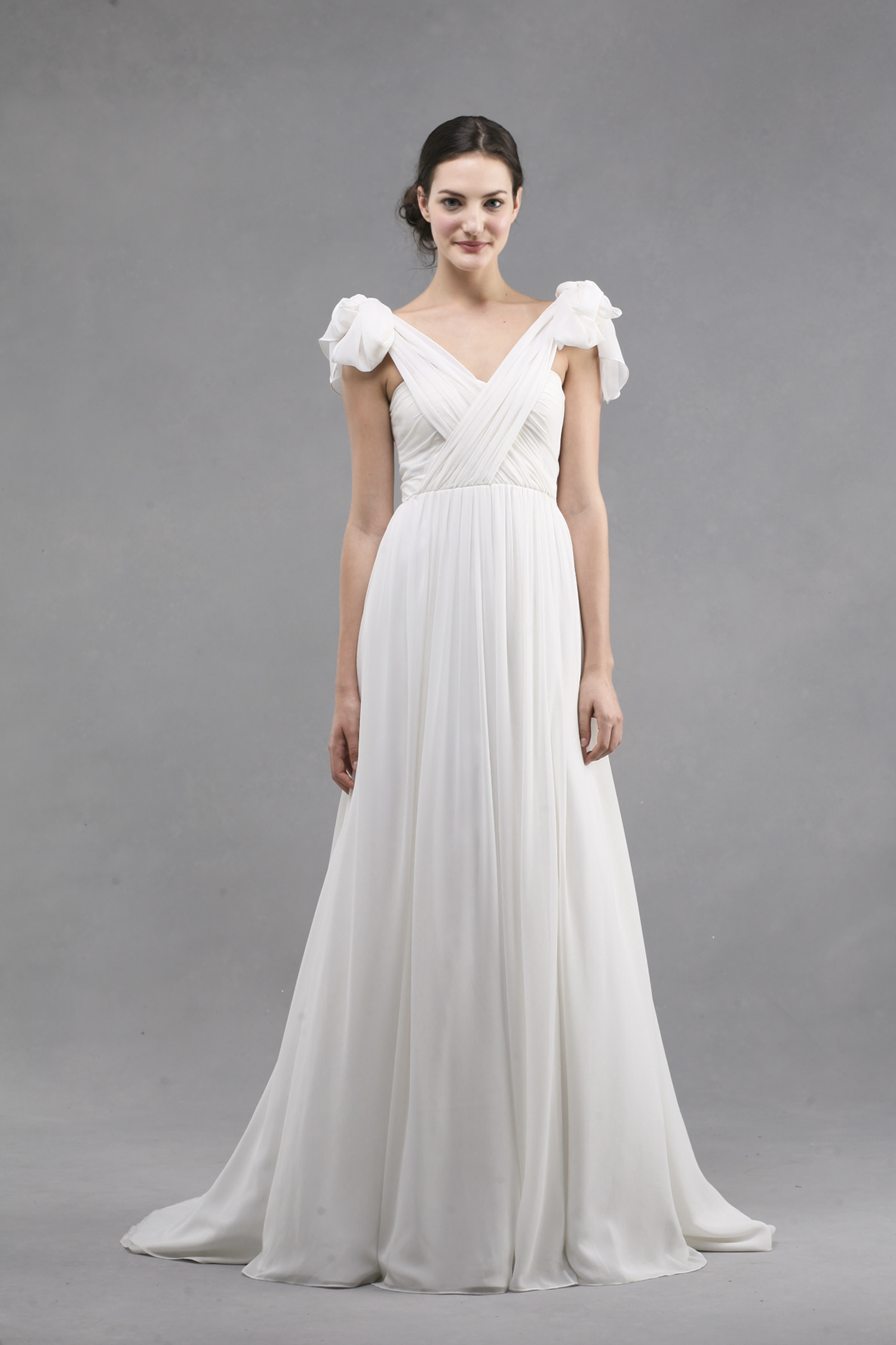 Jenny Yoo Wedding Dress Colllection Spring Summer 2013 Bridal Gowns Monarch Criss Cross V Neck