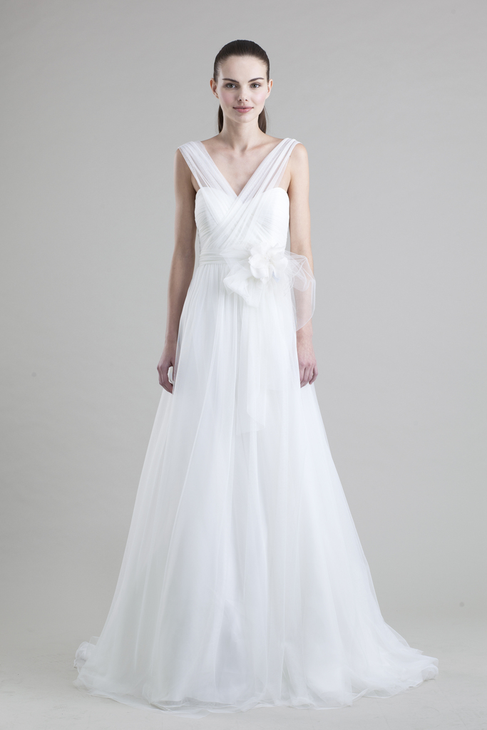photo of jenny yoo wedding dress colllection spring summer 2013 bridal gowns hathaway tulle