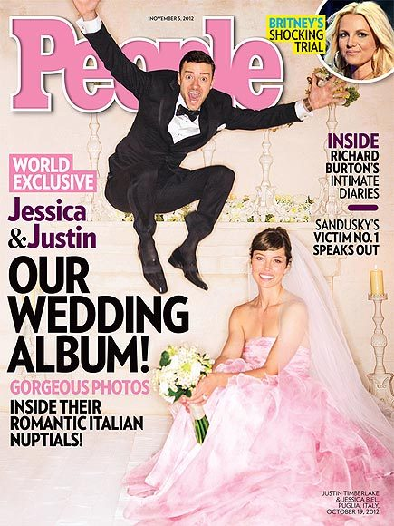 Celebrity Weddings: Jessica Biel's soft pink Giambattista Valli Haute Couture bridal gown
