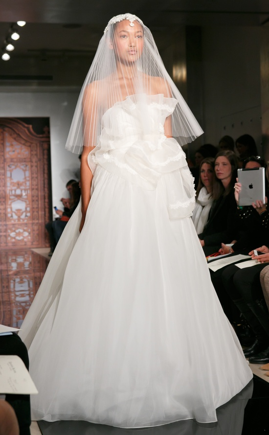Reem Acra wedding dress Fall 2013 bridal Nur Kiss Me Forever Orchid Skirt