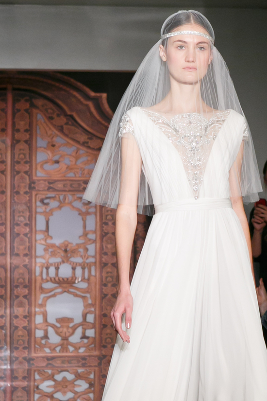 Reem Acra wedding dress Fall 2013 bridal Vik Goddess 3