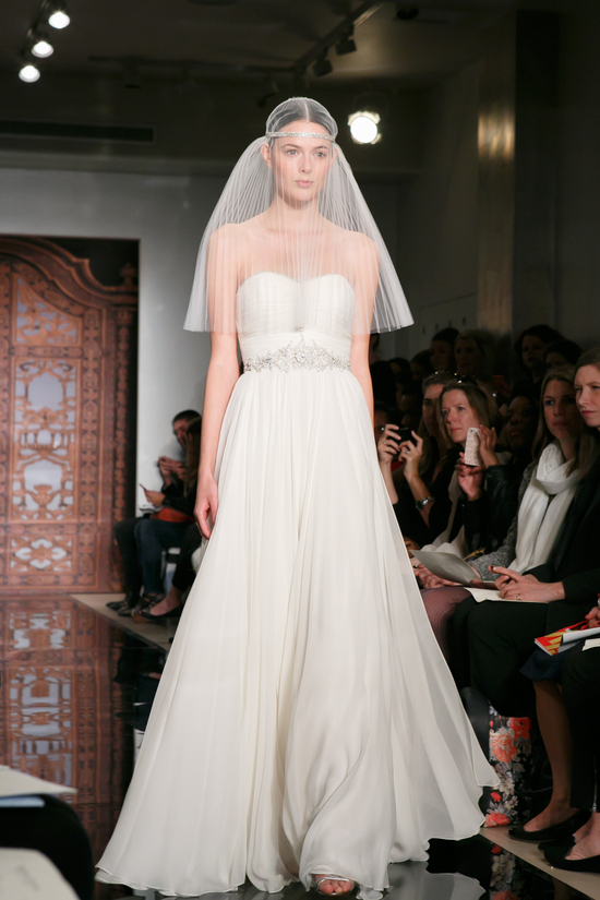Reem Acra wedding dress Fall 2013 bridal Sadie Im Ready 2