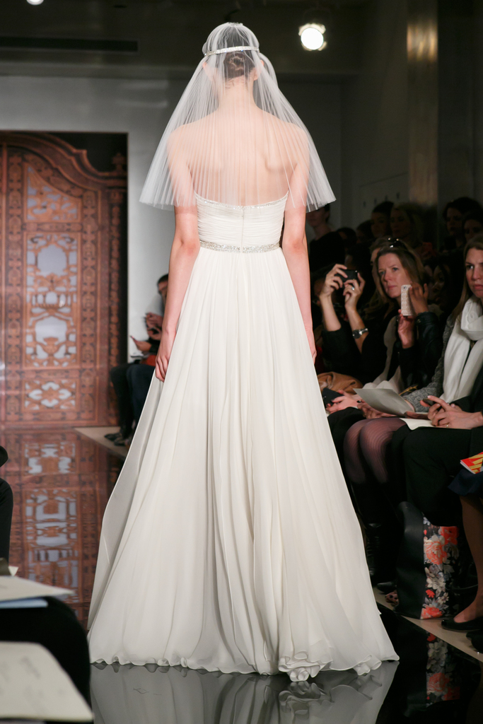 photo of White Aisle Style Redefined with Reem Acra's Fall 2013 Wedding Dress Collection