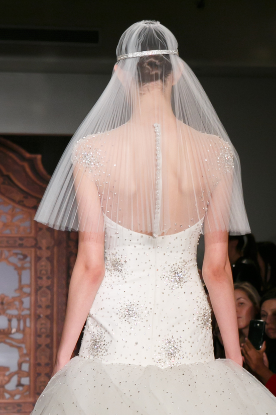 Reem Acra wedding dress Fall 2013 bridal Sadie Super Star front