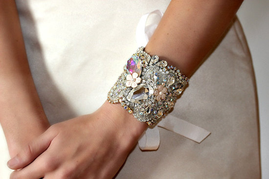 bridal cuff bracelet handmade wedding accessories 10