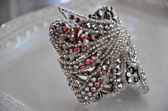 bridal cuff bracelet handmade wedding accessories 12