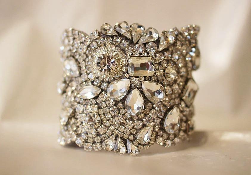 Bridal Cuff Bracelet Handmade Wedding Accessories 11