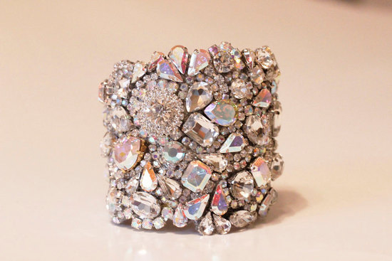 bridal cuff bracelet handmade wedding accessories 8