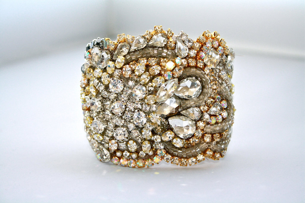 bridal cuff bracelet handmade wedding accessories 5