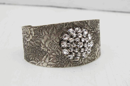 bridal cuff bracelet handmade wedding accessories 3