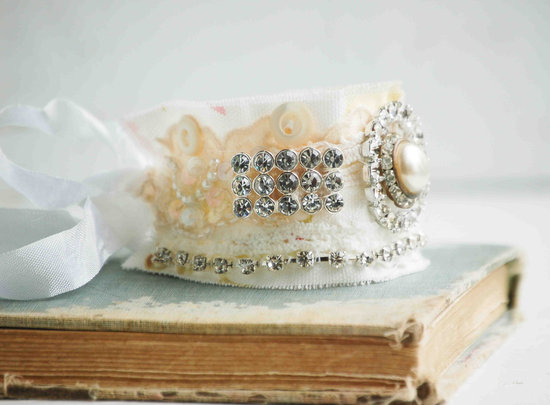 bridal cuff bracelet handmade wedding accessories 2