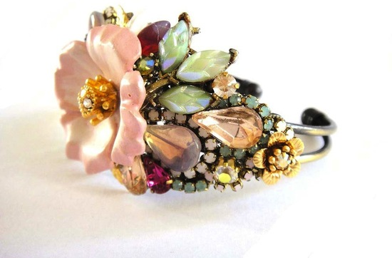 bridal cuff bracelet handmade wedding accessories 16