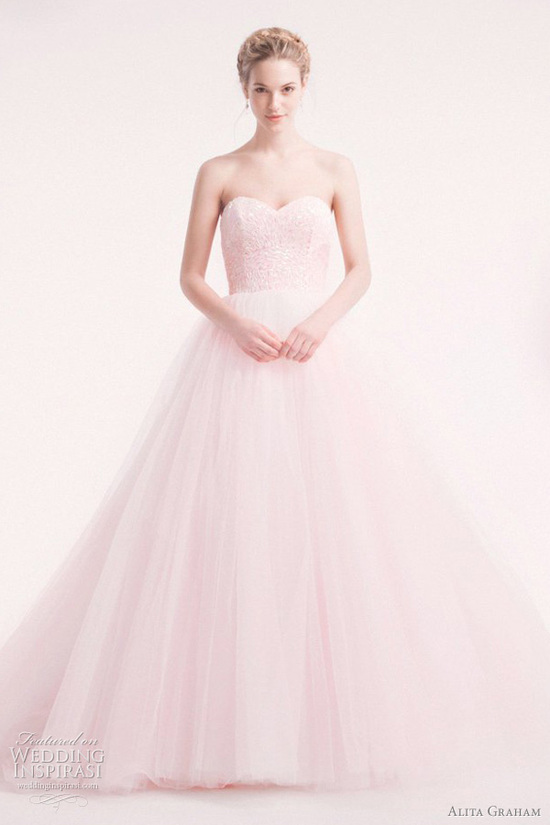 Jessica Biel bridal gown lookalikes alita graham pink wedding dress