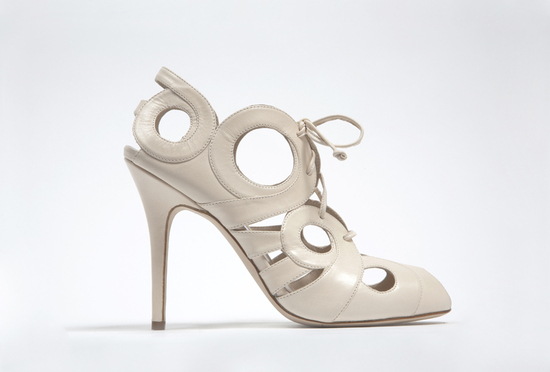 wedding shoes by monique lhuillier Fall 2013 bridal ivory leather