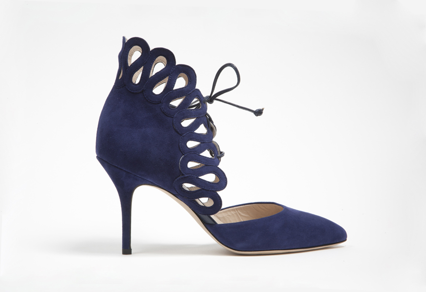 Shoes by monique lhuillier fall 2013 bridal something blue navy suede wedding shoes by monique lhuillier fall 2013 bridal something blue navy suede junglespirit Choice Image