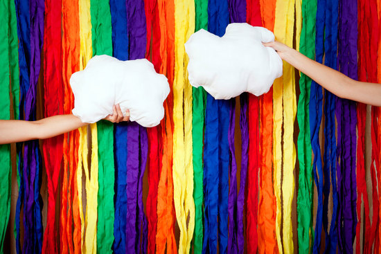 beautiful wedding backdrops Etsy handmade weddings rainbow