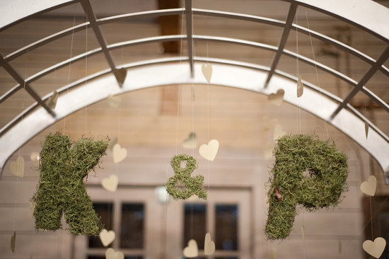Beautiful wedding backdrops Etsy handmade weddings moss initials