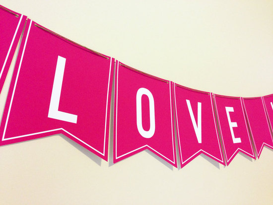beautiful wedding backdrops Etsy handmade weddings LOVE banner