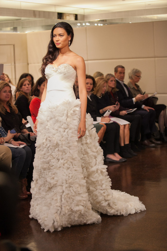 Fall 2013 wedding dress Badgley Mischka bridal gowns Libra