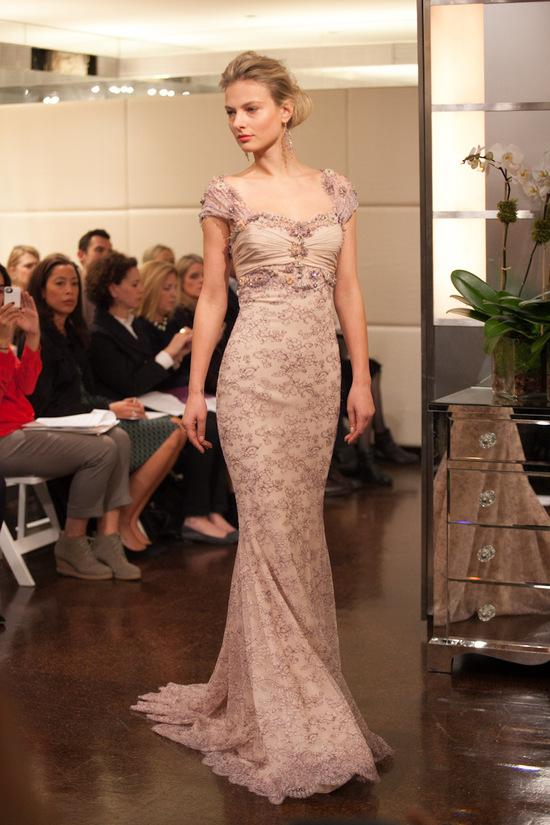 Fall 2013 wedding dress Badgley Mischka bridal gowns Cressida