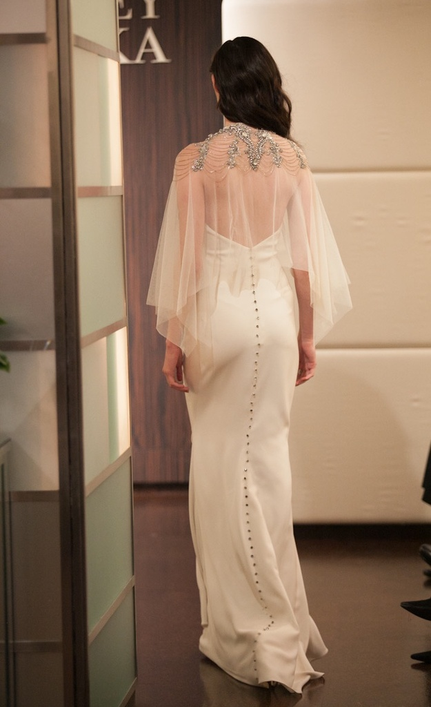 photo of A Celestial Wedding Dress Collection for Fall 2013 by Badgley Mischka