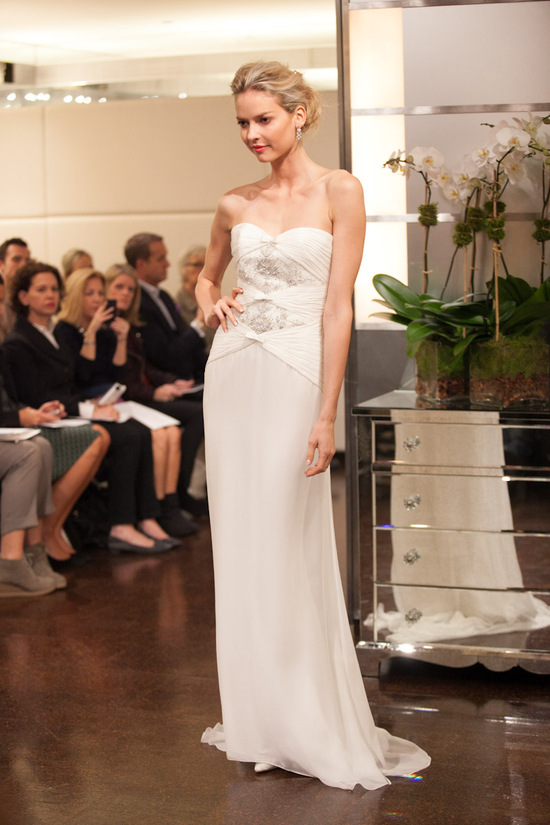Fall 2013 wedding dress Badgley Mischka bridal gowns Mercury