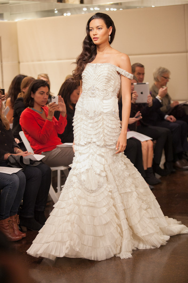 Fall 2013 wedding dress Badgley Mischka bridal gowns Neptune