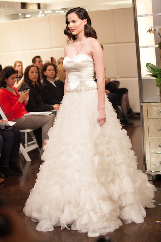 Fall 2013 wedding dress Badgley Mischka bridal gowns Eclipse