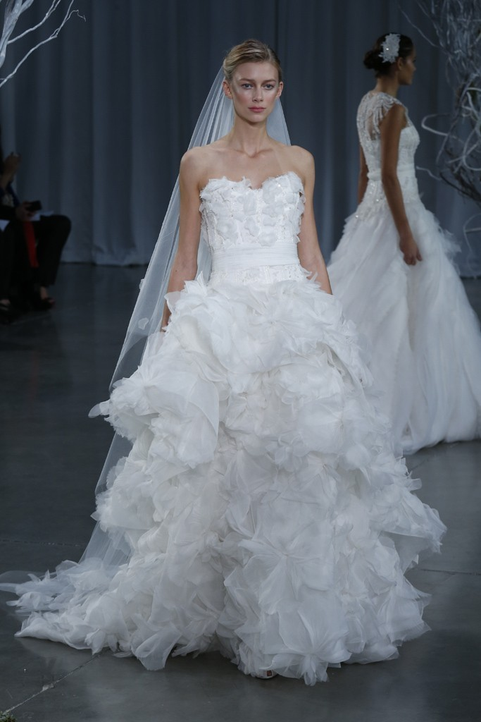 2013 wedding dress Monique Lhuillier bridal gowns Fantasy