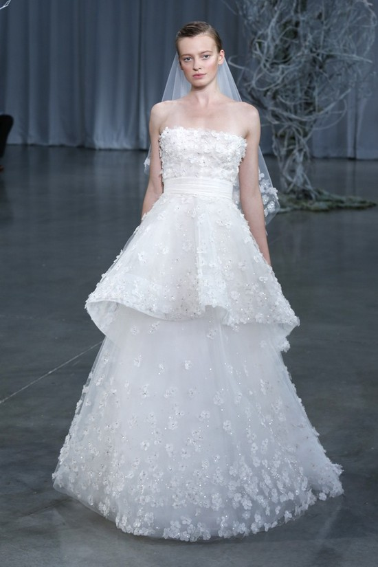 Fall 2013 wedding dress Monique Lhuillier bridal gowns Crescendo