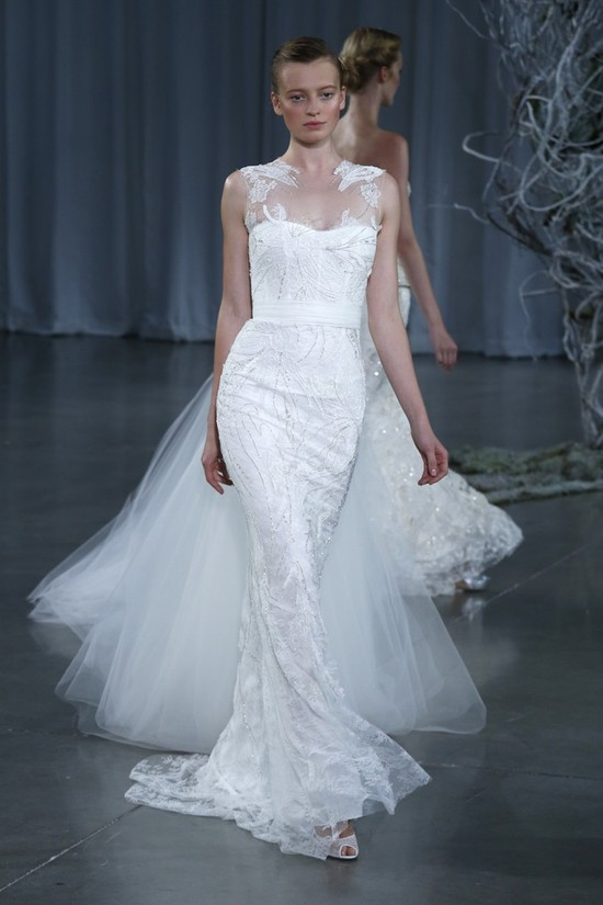 Fall 2013 wedding dress Monique Lhuillier bridal gowns Renoir