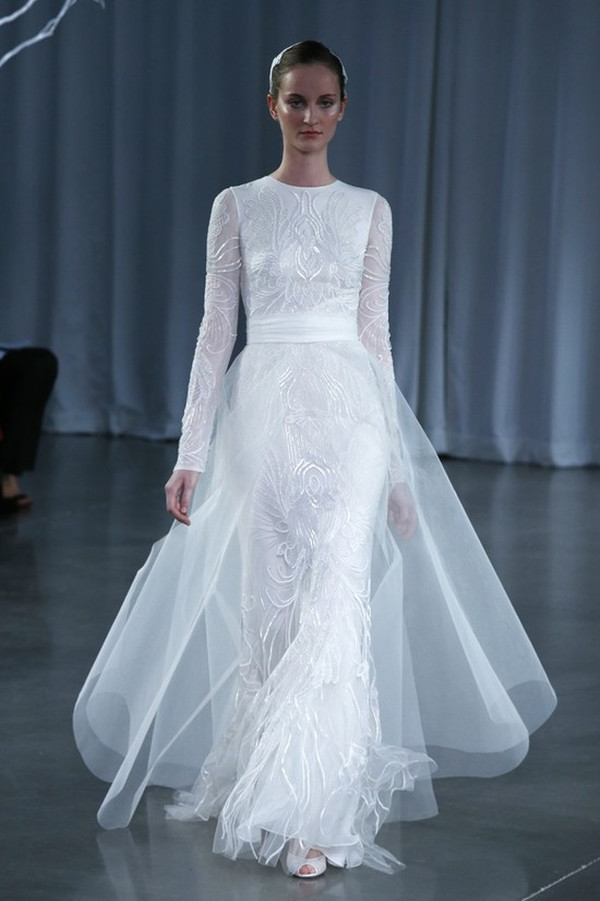 Fall 2013 wedding dress Monique Lhuillier bridal gowns Papillon