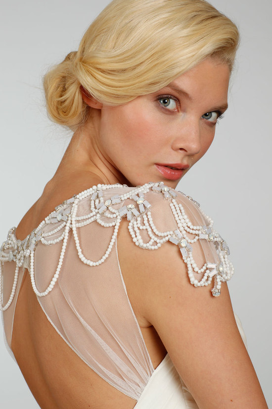 hayley paige wedding dress detail Spring 2013 bridal gowns