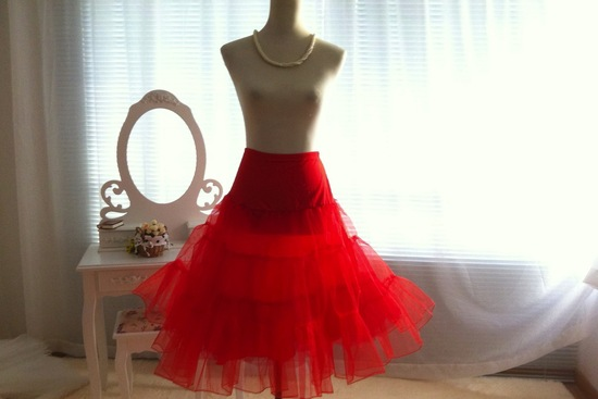 Handmade Weddings How to style a romantic winter wedding red petticoat