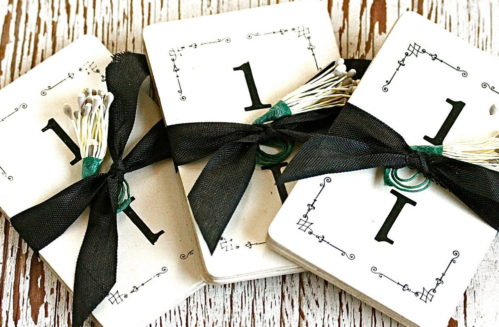 Handmade Weddings How to style a romantic winter wedding table numbers