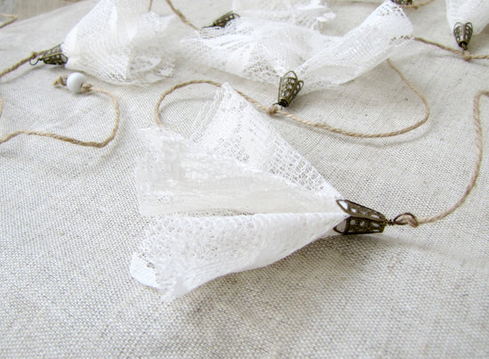 Handmade Weddings How to style a romantic winter wedding white lace garland
