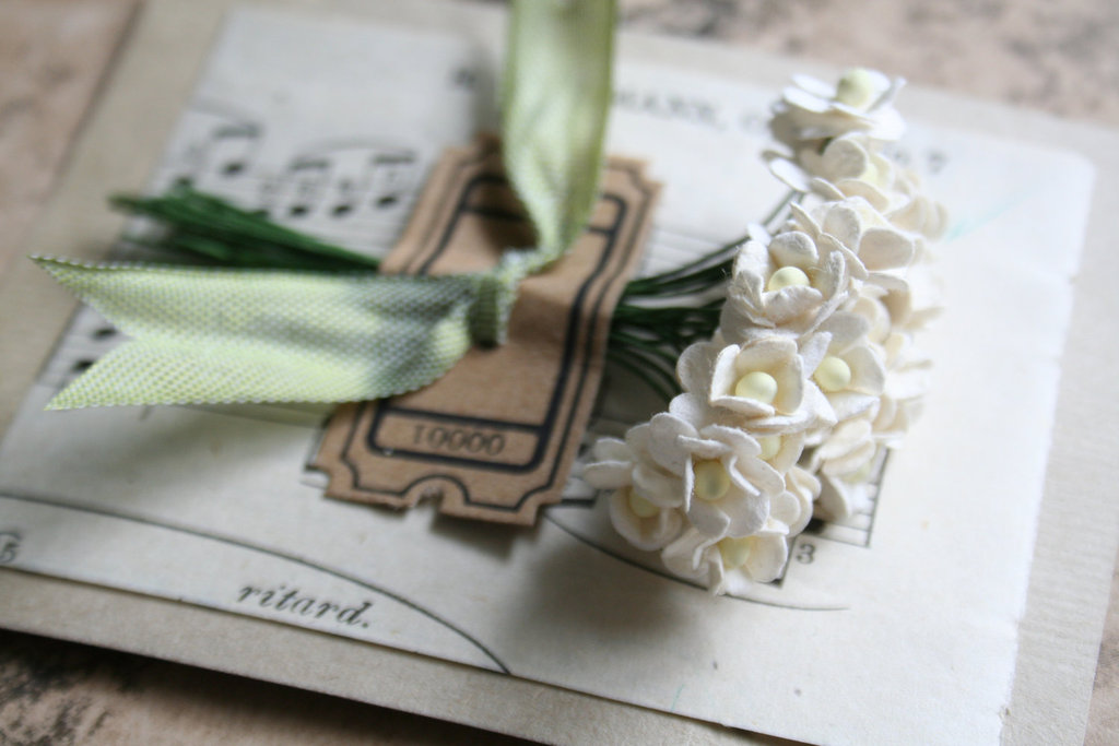 Handmade Weddings How to style a romantic winter wedding cream paper blossoms