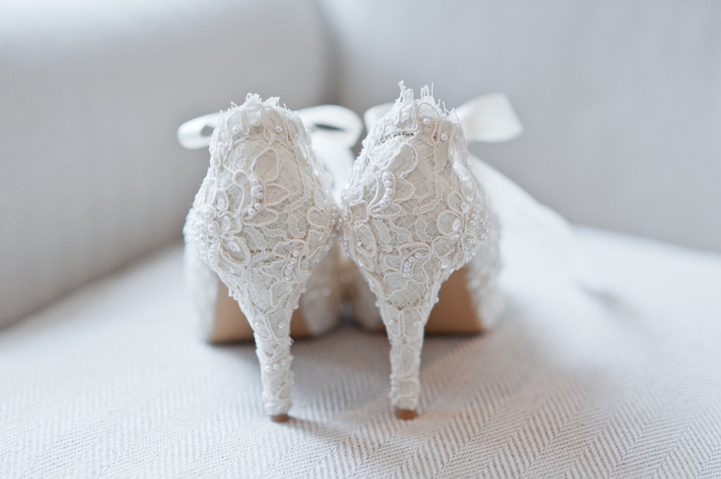 Handmade Weddings How to style a romantic winter wedding lace heels