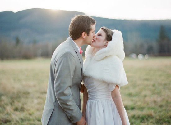 Handmade Weddings How to style a romantic winter wedding faux fur cape