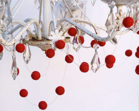 photo of winter wedding ideas decor red ball garland