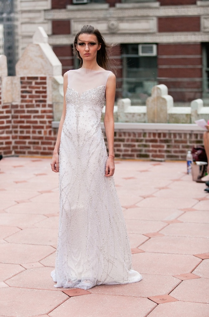 photo of Ethereal with a Touch of Glamour: Fall 2013 Anne Bowen Wedding Dresses