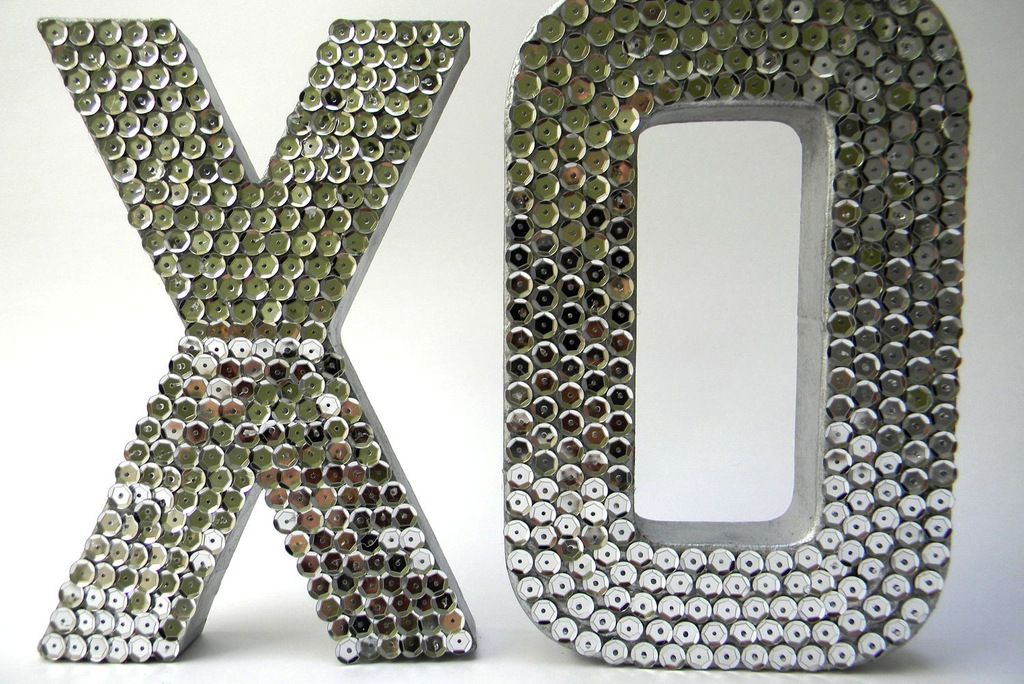 wedding accessories bridal style inspiration sequin XO letters