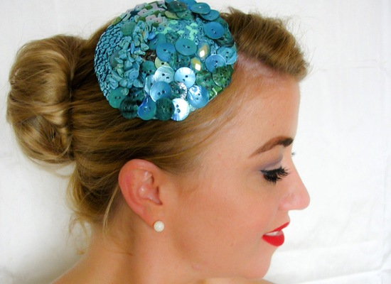 wedding accessories bridal style inspiration sequin bridesmaid hat
