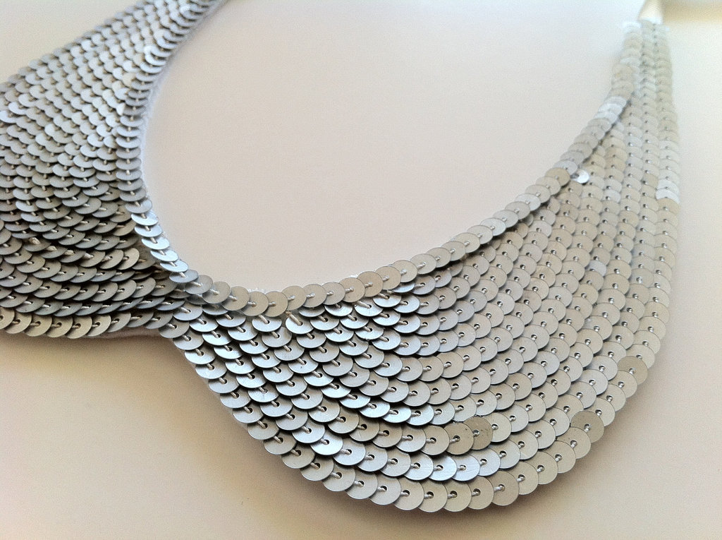 wedding accessories bridal style inspiration sequin silver collar necklace