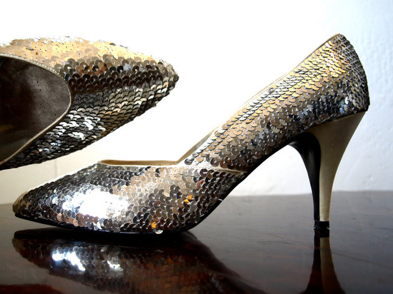 wedding accessories bridal style inspiration sequin low heels