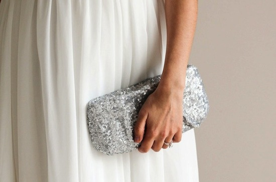 wedding accessories bridal style inspiration sequin clutch
